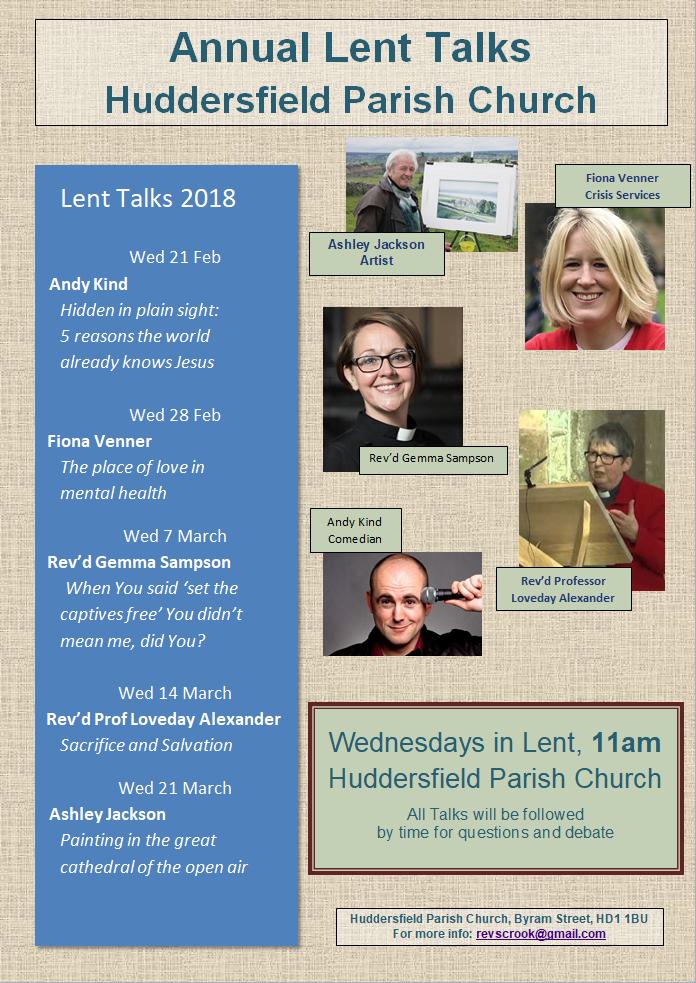 Lent Talks 2018 Poster